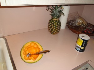 cantaloupe and pineapple