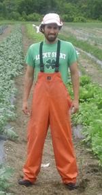 volunteering on an organic veggie/cattle/hog and chicken farm in Vermont.  Summer 2013