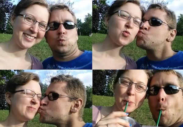 Amanda with her partner