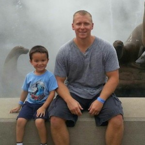 That's me and my boy at the zoo today