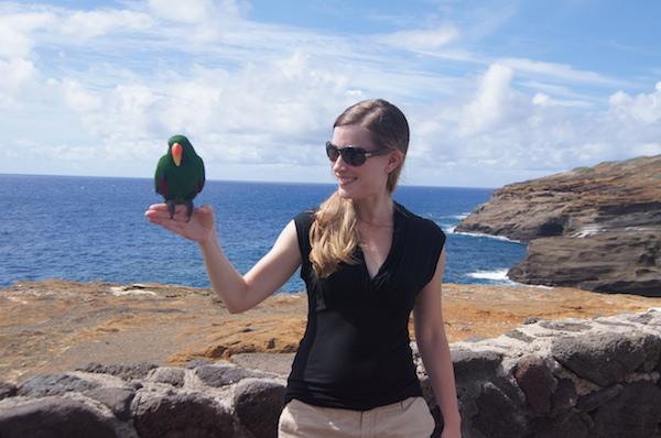 Catherine on the coast!