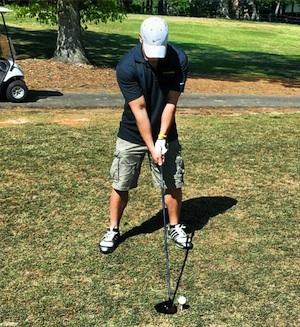 David on the golfcourse