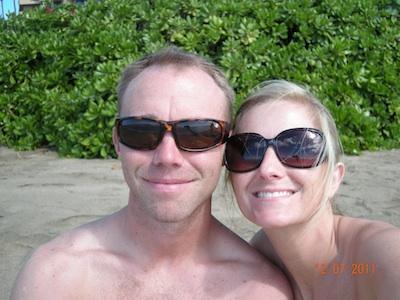 on beach in Maui