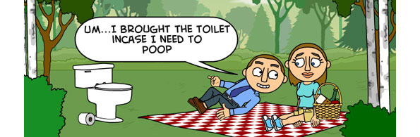 toilet out picnicking
