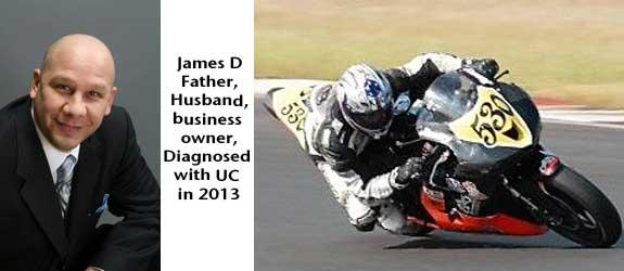James D motorcycle UC rider