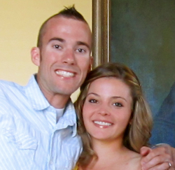 Kyle with his wife