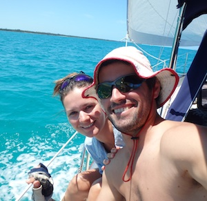 Adam Scheuer (founder of iHaveUC) an Michaela heading back to US April 1, 2014)